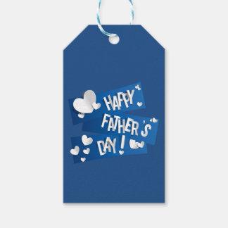 """父の日""""幸せな父の日"""" ギフトタグ"""