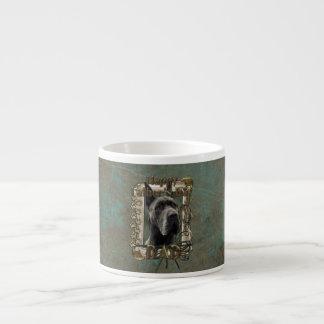 父の日-石造りの足-グレートデーン-灰色 エスプレッソカップ