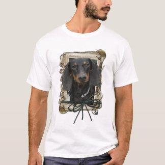父の日-石造りの足-ダックスフント- Winston Tシャツ