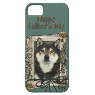 父の日-石造りの足-柴犬- Yasha iPhone SE/5/5s ケース