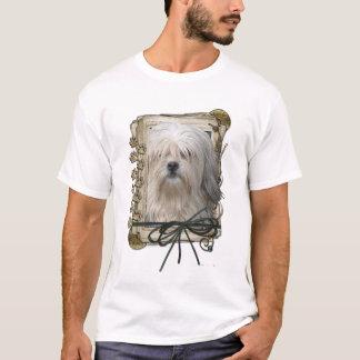父の日-石造りの足- Lowchen Tシャツ