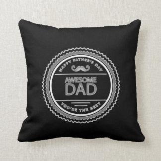 """父の日- """"素晴らしいパパ"""" クッション"""