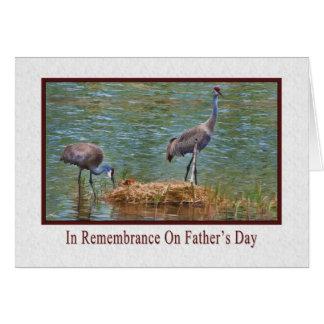 父の日、記憶で、Sandhillクレーン カード