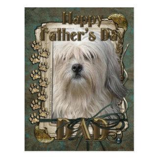 父の日- Lowchen ポストカード