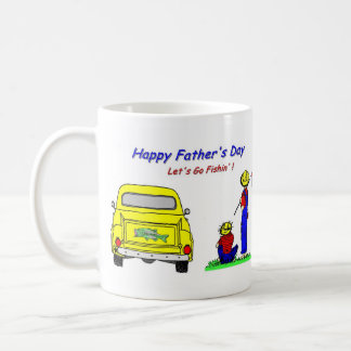 父の日Fishin コーヒーマグカップ