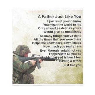 父の詩-兵士のデザイン ノートパッド