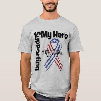 父-私の英雄を支えている軍隊 Tシャツ