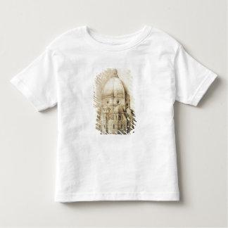 「片からの東からのフィレンツェのカテドラル、 トドラーTシャツ