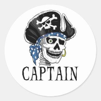 片目の海賊大尉 ラウンドシール