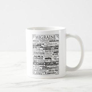 片頭痛の徴候のマグ コーヒーマグカップ