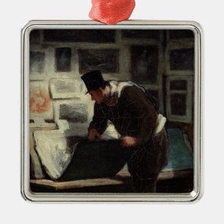 版木、銅版、版画、c.1860-62のコレクター メタルオーナメント