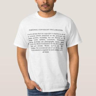 版権の宣言 Tシャツ
