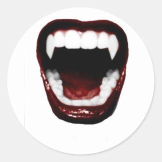 """""""牙"""" 丸型シール"""