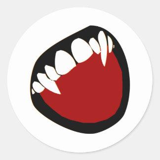 牙 丸形シールステッカー