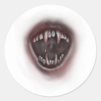 牙 丸形シール・ステッカー