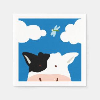 牛およびトンボ スタンダードカクテルナプキン