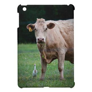 牛および白鷺のiPadカバー iPad Miniケース
