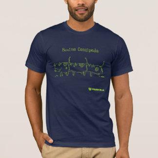 牛のようなムカデ(輪郭) Tシャツ