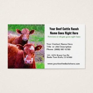 牛の牧場かビーフの関連の名刺 名刺