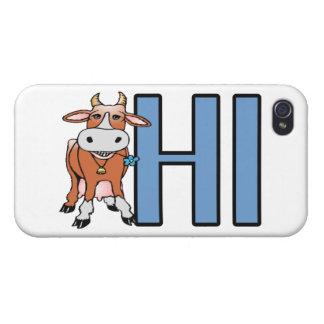 牛はこんにちは言います iPhone 4/4Sケース