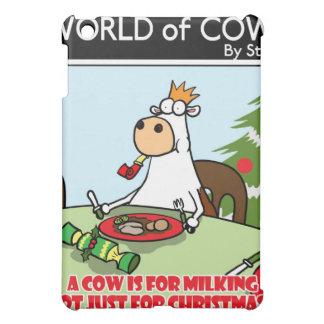 牛はちょうどクリスマスのために搾り出すことのためです iPad MINIケース