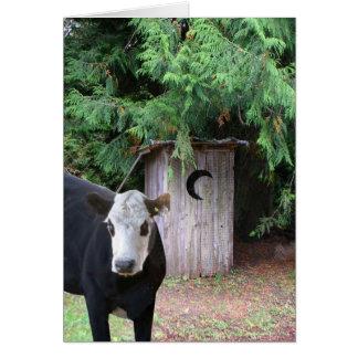 牛は離れ家を訪問します カード