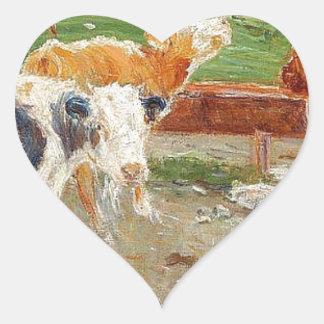 牛はGammelgaard、Saltholmでよく近づきます ハートシール