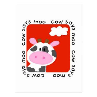 牛はMooのTシャツおよびギフトを言います ポストカード