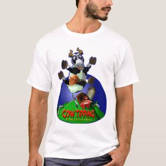 牛ひっくり返ること Tシャツ