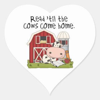 牛まで読書は「家に帰ります ハートシール