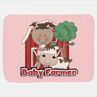 牛を持つベビー農家 ベビー ブランケット
