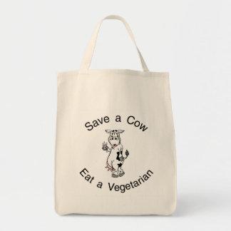 牛を食べますベジタリアンを救って下さい トートバッグ