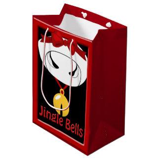牛ジングルベルのクリスマスMed GB ミディアムペーパーバッグ