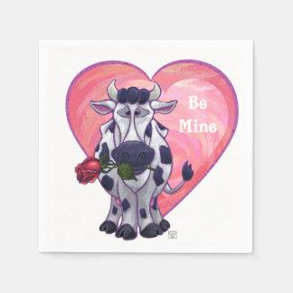 牛バレンタインデー スタンダードカクテルナプキン
