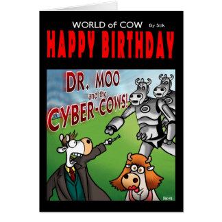 牛バースデー・カード- Moo先生の世界 カード