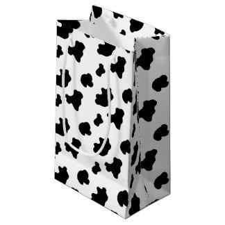 牛パターン小さいギフトバッグ スモールペーパーバッグ