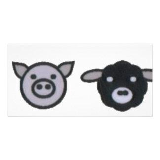 牛ブタのヒツジの鶏 カード