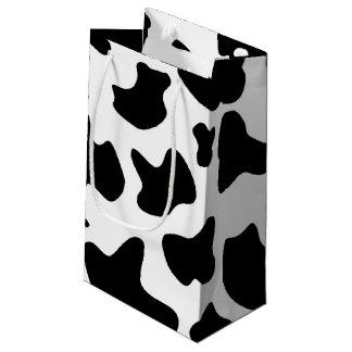 牛プリントのギフトバッグ スモールペーパーバッグ