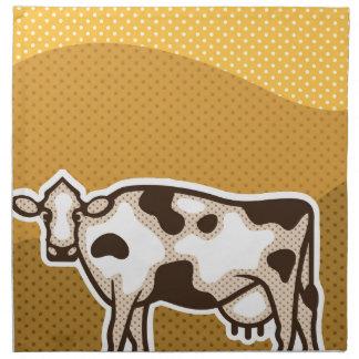 牛ポップアート ナプキンクロス