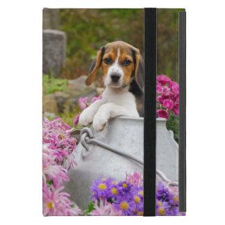 牛乳容器のかわいいビーグル犬犬の子犬-保護 iPad MINI ケース