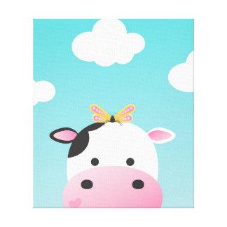 牛及び蝶BFFsの子供部屋 キャンバスプリント