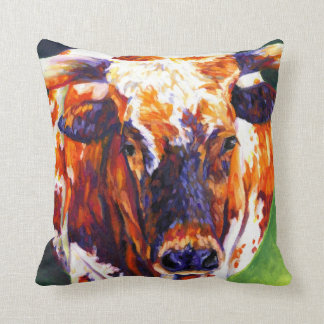 牛女の子の枕-長角牛の雌牛 クッション