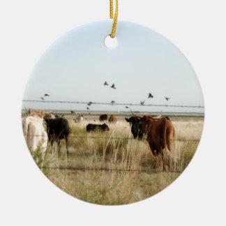 牛操業 セラミックオーナメント