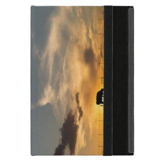 牛日没のシルエット iPad MINI ケース