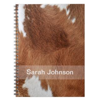 牛毛皮のノート ノートブック