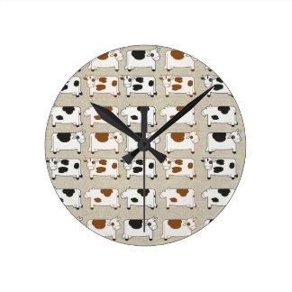 牛牛牛 ラウンド壁時計
