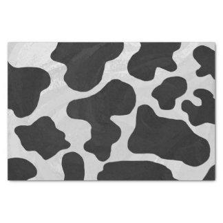 牛白黒プリント 薄葉紙
