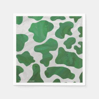 牛緑および白写真 スタンダードカクテルナプキン