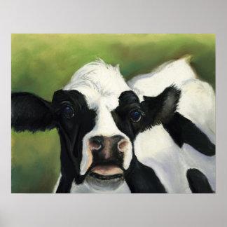 牛芸術のプリント ポスター