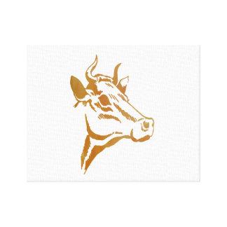 牛芸術 キャンバスプリント